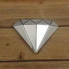 NEW! SILVER COLOR DIAMOND EMBLEM METAL BELT BUCKLE HEBILLA  #145