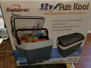Koolatron P25 12V Portable Electric Cooler 26 Quarts/24 Liters 31 Cans Capaci...