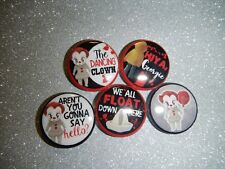 "IT PennyWise Horror Nerd Geek Quotes Movie  1"" Pinback Button Pin Badge"
