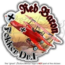 FOKKER TRIPLANE RED BARON Allemand Baron Rouge WWI 117mm Sticker Autocollant
