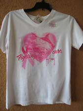GUY HARVEY LADIES SMALL WHITE FIGHTING FOR A CURE (NWT) T-SHIRT
