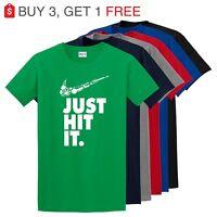 Nike Just Hit Funny Marijuana Weed Pot 420 Black T Shirt Just do it Festival Tee