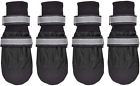 Nonslip Dog Boots Water Resisitant Paw Protector For Medium Large Dog Reflective