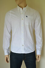 NEW Abercrombie & Fitch Gill Brook White Classic Button Down Shirt XL