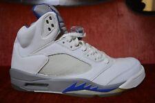 NEW Nike Air Jordan 5 Retro White Sport Royal Stealth Blue Black UNC 136027 142