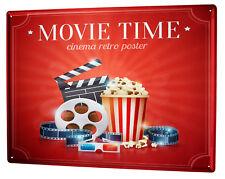 Cartello Targa in Metallo XXL Cinema  Cinema popcorn