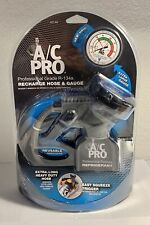 NEW A/C PRO Professional Grade R-134a Recharge Hose & Gauge Factory Sealed