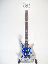 Guitare miniature basse « blue flame » Robert Trujillo Metallica