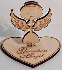 Guardian Angel Figurine - wooden personalised gift