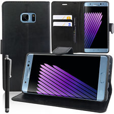 Cover Custodia NERO Portafoglio Video per Samsung Galaxy Note FE + Pennino