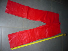 pantalon  vintage 1980  suzuki taille L neuve tres ancien stock cuir vachette