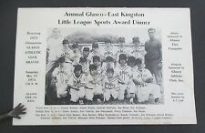 1973 GLASCO-EAST KINGSTON NY Little League Sports Award Dinner Program