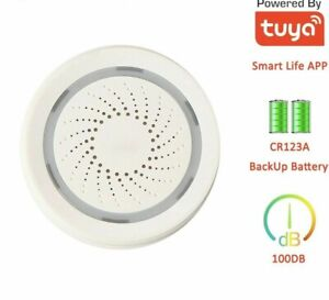 Wireless Siren WIFI Alarm Independent Smart Device 100DB Sounds Powerful Battery