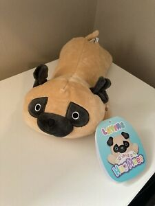 Prince The Pug/ Dog Squishmallow Laying Hug Mees, New With Tags. From ***US***