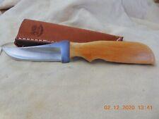 ANZA  HANDMADE FIXED  BLADE KNIFE BONE HANDLE #855 MODEL 713
