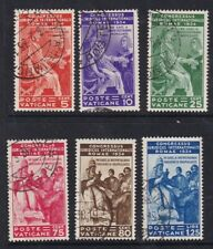 Vatican 1934 Juridical Congress set 6 SG41-46 FU fine used