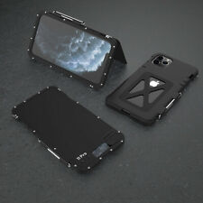 For iPhone 11 Pro Xs Max R-Just 360° Hybrid Shockproof Aluminum Metal Case Cover