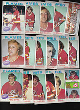 1975 Topps Atlanta FLAMES Team SET Lot of 17 NM/MT VAIL LYSIAK QUINN MYRE