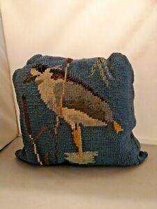 Vintage Stork Bird Cushion Tapestry 44cm x 40cm