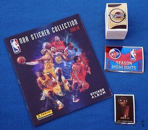PANINI NBA Basketball 2015/16, complete loose sticker set + empty album