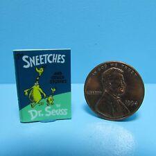 Dollhouse Miniature Replica of Book Dr Seuss Sneetches ~ B138