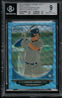 BGS 9 AARON JUDGE 2013 Bowman Chrome BLUE WAVE REFRACTOR RC (0.5 from GEM) MINT