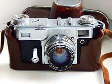 RARE Model Kiev 4A USSR Rangefinder Film Camera Contax Clone w/s Jupiter-8M EXC
