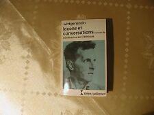 Ludwig Wittgenstein Lecons et conversaciones francés