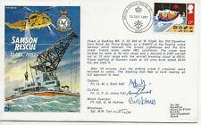 RAF FDC - Samsom Rescue - 1122 - Signed - 1987 - (5354)