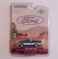 Greenlight  1/64  1969 Ford F-100 Pickup  Turquoise / White