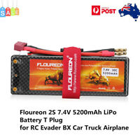 Floureon 2S 7.4V 5200mAh 30C T Plug LiPo Battery For RC Evader BX Car RC Truck