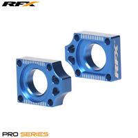 Yamaha YZ 125 2005 RFX Pro Blue Rear Wheel Axle Adjuster Blocks