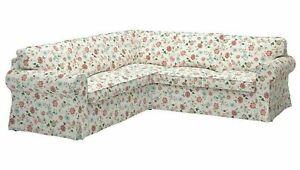 Ikea Ektorp Sectional Slipcover 4-seat Corner Cover Floral VIDESLUND MULTICOLOR