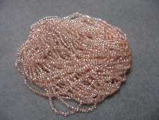 11/0 HANK SILVER LINED BUTTER GOLD SQUARE HOLE CZECH GLASS SEED BEADS