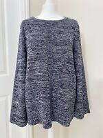 NWT £79.95 Womens Barbour Carron Knit Blue Jumper Size 14