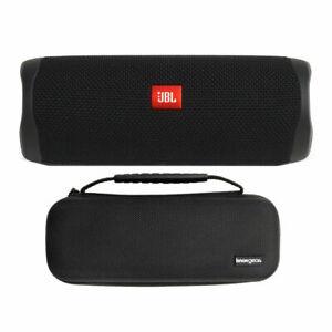 JBL Flip 5 Portable Waterproof Bluetooth Speaker (Midnight Black) Bundle w/ Case
