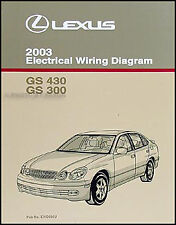 2003 Lexus GS 300 430 Electrical Wiring Diagram Manual GS300 GS430 Original Book