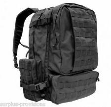 Condor - Tactical 3 Day Assault Backpack - Black - Molle II Webbing #125