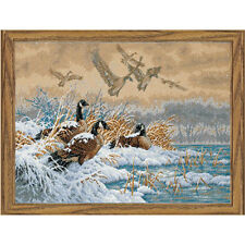 Counted Cross Stitch Kit WINTER RETREAT Dimensions Gold Collection