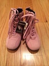 Geox Girls Kids Waterproof Suede Leather Size 9.5 (26) Boots Shoes. Pink. New!