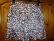 Muted pink and grey animal print tiered skirt, CHARMING, 8, NEW with TAG BNWT