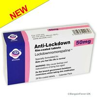 AMAZING Funny Lockdown Joke Medication Selection Box Gift Xmas, Birthday Card