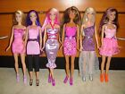 BARBIE DOLL LOT OF 6 DOLLS FULLY CLOTHED WITH SHOES EXCELLENT CONDITION LOT 54