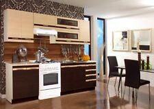 Küche 240 cm. variabel stellbar   Lungo Wenge/ Eiche /Macchiato NEU & Schnell