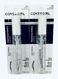 CoverGirl Natural Lash Professional Mascara #100 Clear New (two pack)
