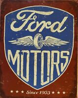 PLAQUE METAL USA  vintage FORD MOTORS   40 X 30 CM