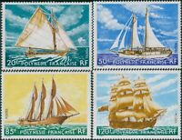 French Polynesia 1977 Sc#296-299,SG262-265 Sailing Ships set MLH
