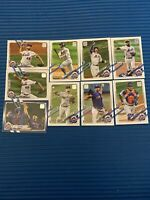 New York Mets 2021 Topps Series 1 Base Team 9 card Set. Blue Parallel Get Up, RC