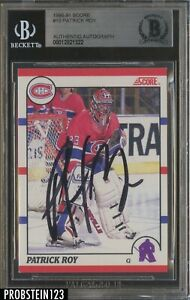 Patrick Roy Signed 1990-91 Score #10 AUTO Montreal Canadiens BGS BAS Authentic