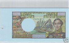 TAHITI PAPEETE EPREUVE UNIFACE DU VERSO 5000 FRANCS (1968) PICK cf 814